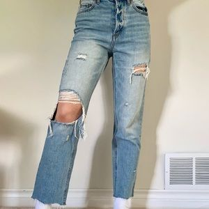 BDG straight legged ripped jeans